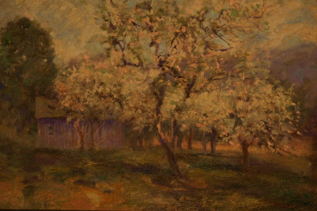 Apple Blossoms - Gaylordsville, Oil on Panel, 8 x 12 Inches, by Bernard Lennon, $1000
