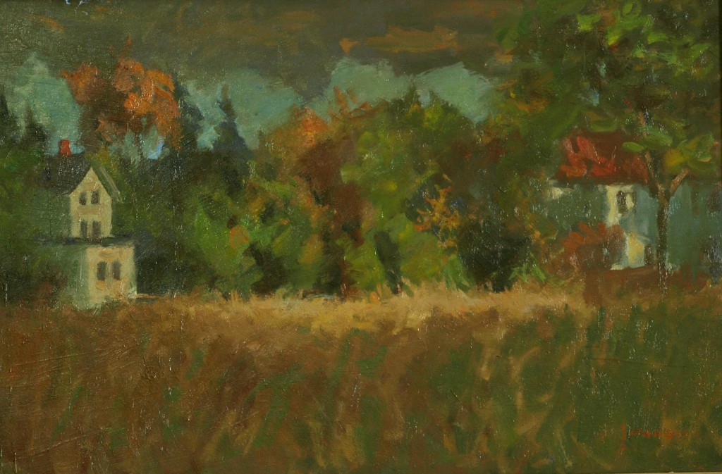 Autumn Splendor, Oil on Panel, 16 x 24 Inches, by Bernard Lennon, $675
