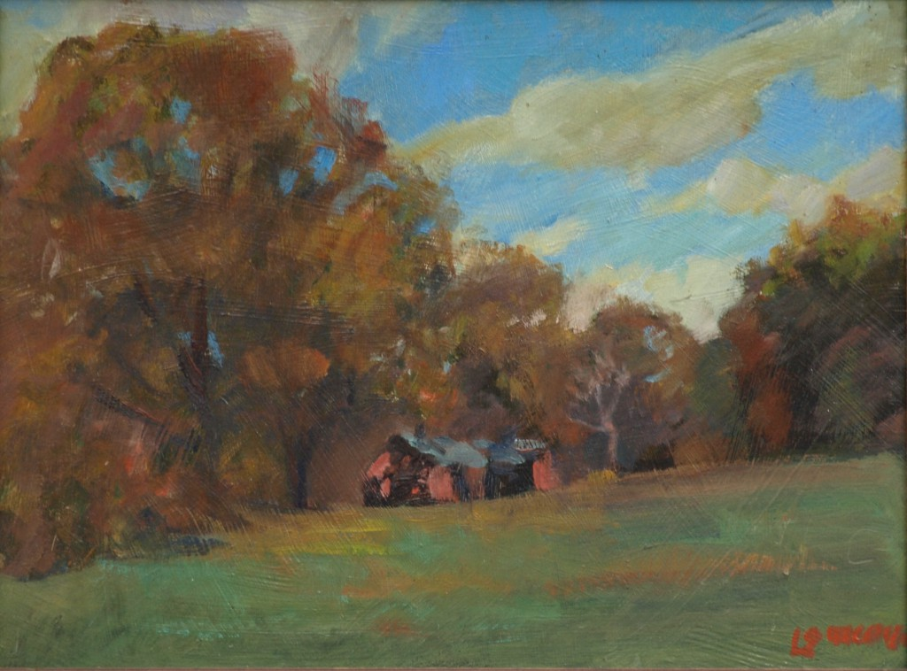 Brown's Forge - Autumn, Oil on Panel, 12 x 16 Inches, by Bernard Lennon, $300