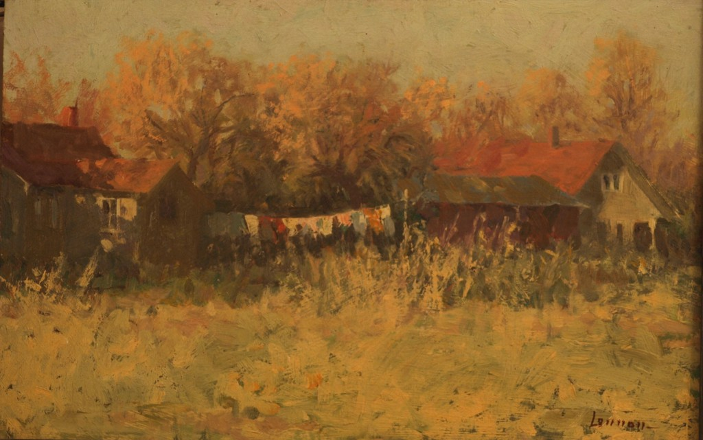 Early Spring - Gaylordsville, Oil on Panel, 10 x 15 Inches, by Bernard Lennon, $3000