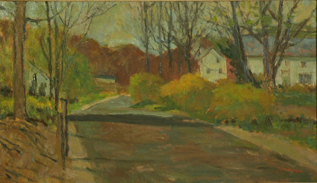 New England Spring, Oil on Panel, 17 x 29 Inches, by Bernard Lennon, $925