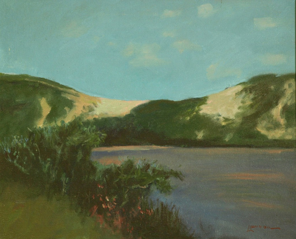 Sand Dunes - Provincetown, Oil on Canvas, 20 x 24 Inches, by Bernard Lennon, $875
